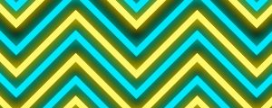 Live Events Stock Media - Neon Blue & Yellow Zig Zag Pattern