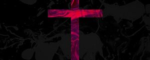 Live Events Stock Media - Pink Cross on Grey