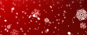 Live Events Stock Media - White snowflake particles on red