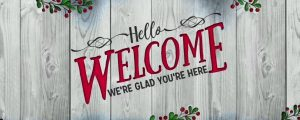 Live Events Stock Media - Wooden Christmas Welcome