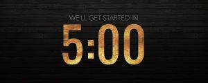 Live Events Stock Media - Wooden Glow Countdown