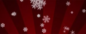 Live Events Stock Media - Ornamental Snow on Red Radial Loop