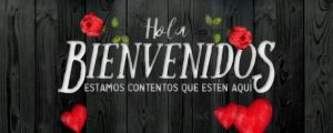 Live Events Stock Media - Wooden Valentine Welcome Spanish