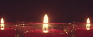 Live Events Stock Media - Red Candles Round Still
