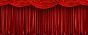 Live Events Stock Media - Red Theatre Curtain