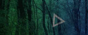 Live Events Stock Media - Blue Green Snowy Forest Triangles