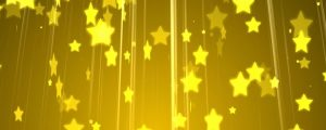 Live Events Stock Media - Golden yellow star & light ray particles