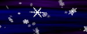 Live Events Stock Media - Snowflakes Blue-Violet Loop