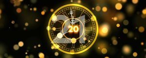 Live Events Stock Media - 2019 New Year Clock Countdown Fireworks