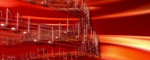 Live Events Stock Media - Rotating Red 3D Music Notes